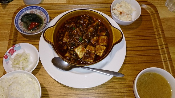 ヨロズ食堂の麻婆豆腐