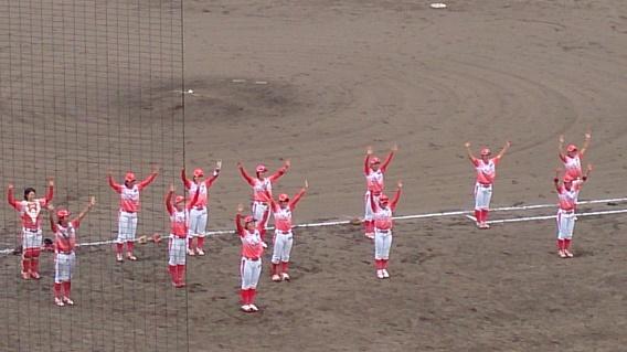 京都フローラ選手による勝利のダンス