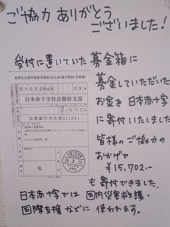 日本赤十字社に寄付