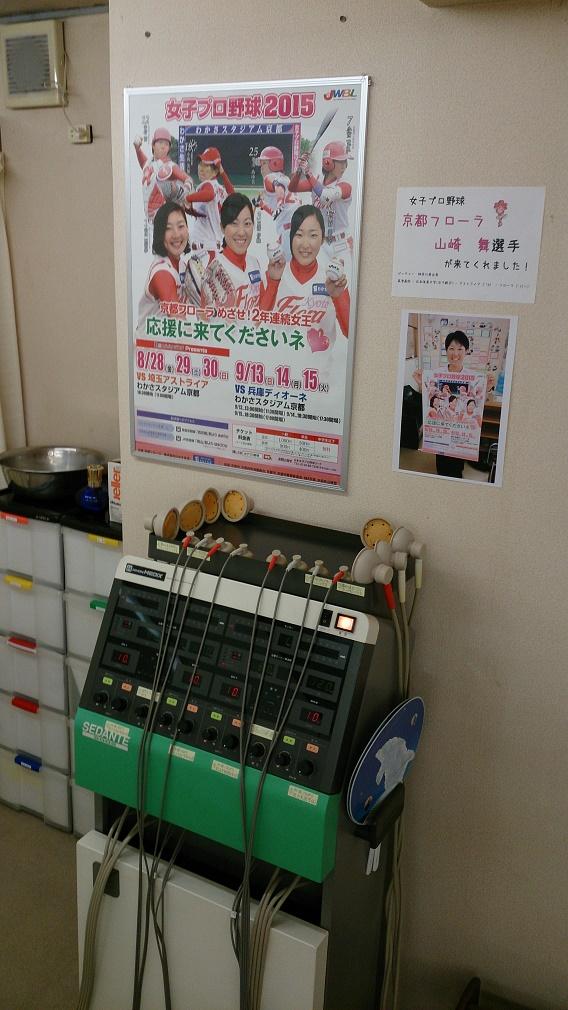 女子プロ野球、京都フローラのポスター