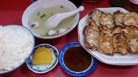 龍園ぎょうざ定食(中)